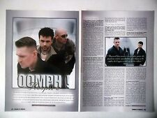 COUPURE DE PRESSE-CLIPPING :  OOMPH ! [2pages] 08-09/2001 Dero,Flux,Ego