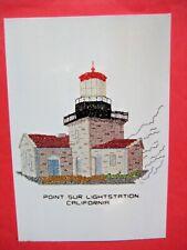 Historic Point Sur Lighthouse Station CA Cross Stitch Kit