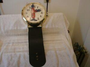BUDMAN BUDWEISER BEER WALL CLOCK WRIST WATCH 1980'S ORIGINAL
