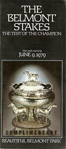 1979 - 111th Belmont Stakes program in Excellent Condition - COASTAL