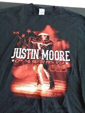 JUSTIN MOORE Off The Beaten Path Tour COUNTRY MUSIC Shirt XL Concert FREE SHIP