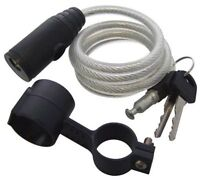 CABLE LOCK CYCLE MOTORBIKE HEAVY DUTY GATES PVC COATING STEEL CABLE LOCK SECURE