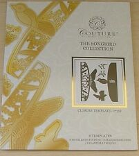 COUTURE BY CREATE AND CRAFT - SONGBIRD COLLECTION - CLOSURE TEMPLATE - 8 DIES