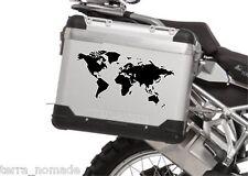 Mundo artístico Mapa Bicicleta Alforja Bmw tureg r12000gs pegatina Jdm Ktm Touratech