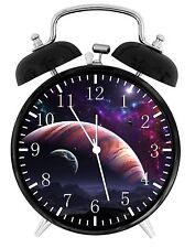 "Space Solar system  Alarm Desk Clock 3.75"" Home or Office Decor E139 Nice Gift"