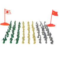 200pcs 2cm Army Men Toy Soldiers Battlefield Military Figure Sand Scene Accs