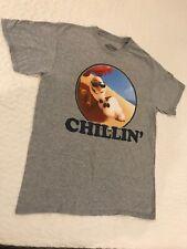 Disney Frozen Olaf Chillin' Gray T-Shirt Unisex M Short Sleeve