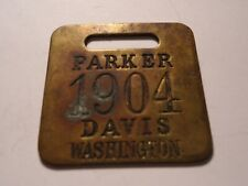 1904 Vintage Parker Davis President Presidential Campaign Watch Fob