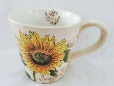 Sunflower Point Coffee Mug Inside Art Flower Design Maxcara Extra Large Tea Cup