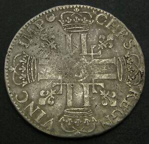 FRANCE 1/2 Ecu 1691 - Silver - Louis XIV. - 2498