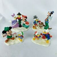 Disney Brass Key Christmas Village Figures Mickey Minnie Donald Goofy 2006 HTF