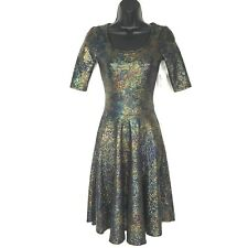 Lularoe XXS dress Elegant Nicole Mermaid Disco Sparkle Oil Slick Lurex