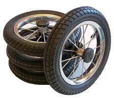4 x  Kinderwagen Rad 12,5 Zoll  Metallspeichen + kugelgelagert + Luftbereifung