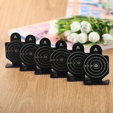 6pcs Metal Airsoft Pistol Practice Silhouette Shooting Aim Target for BB Pellet