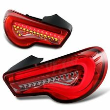 For 2013-2019 Scion FRS FT86 Subaru BRZ DRL Red/Clear Lens LED Tail Lights Lamp
