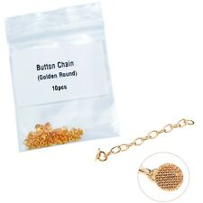 10Pcs/Bag Dental Orthodontic Gold Plated Traction Button Chain Golden Round