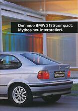 BMW 318ti Compact PROSPEKT 2/94 1994 brochure prospectus broschyr brosjyre auto