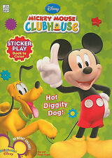 Disney Mickey's Clubhouse: Hot Diggity Dog! Sticker Play Book to Color-ExLibrary