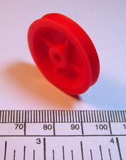 Polea - 30 mm diámetro de 5 mm de ancho-alto Impact Red De Nylon - 4 mm diámetro ajuste de empuje
