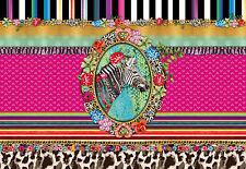 Fototapete MELLI MELLO ZEBRA 368x254 bunte Elemente, Kulturen, Design Retro pink