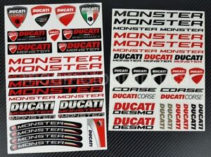 Ducati Monster 821 696 1200 Motorrad Aufkleber blatt 54 stickers set Laminiert
