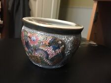 "HOME DECORATIVE 3"" ORIENTAL SHORT VASE BOWL TABLE DECOR MULTI-COLOR CERAMIC"