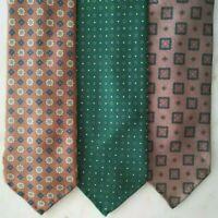 Bespoke Handmade Made To Order Macclesfield Silk Tie British Fabric Threefold