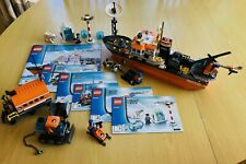 Rare Retired Lego City 60062 Arctic Icebreaker *only 1 piece missing*