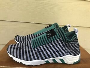 Adidas EQT Support SK Primeknit B37522 Men's Black Green Grey Sneakers Size 12