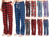 Ashford & Brooks Women's Soft Flannel Plaid Pajama Sleep Pants 2 Pack