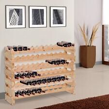 72 Bottle Shelf Wine Rack Holder Standing Holds Storage Fir Wood Cellar Standing