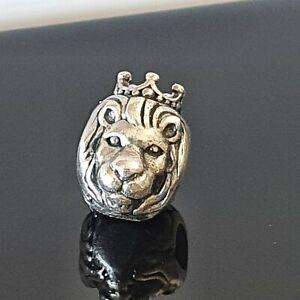 Pandora King of The Jungle Regal Lion Head Silver Charm 791377 Free Post