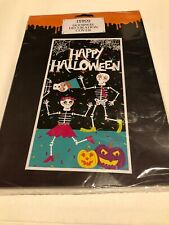 Halloween door cover Escaping Skeleton Wall Scene Setter Decoration Poster Scary