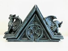FIG-GARGOYLE: GARGOYLE STATUE FIGURINE BOOKEND PAIR SET