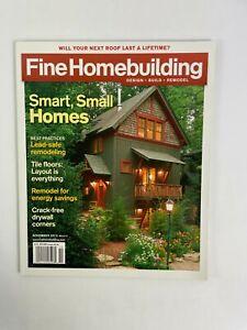 November 2010 Fine Homebuilding Magazine Smart Small Homes Tile Floors Layout #B