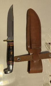 Very Rare Western Knife H48A Letter H Original Handle New W/Sheath, Beautiful