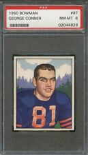 1950 Bowman GEORGE CONNER #97 Chicago Bears - PSA 8