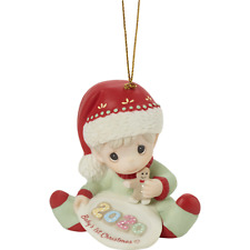 Precious Moments 201006 2020 Baby's 1st Christmas - Dated Boy Ornament 2020 New