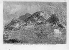 1875-ANTIQUE PRINT Arctic lieveley Harbour Disco Island hésitante place (70)