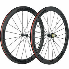 SUPERTEAM 50mm Carbon Road Bike Wheel Clincher R39 Matte Bicycle Carbon Wheelset