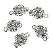 5pcs Flower Shape Bracelet Necklace Clasp Hook Connector Jewelry Findings