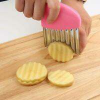 Stainless Steel Potato Wavy Cutter Chopper Vegetable Fruit Slicer Kitchen Tool N