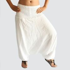 Indian White Harem Gypsy Hippie Ali Baba Baggy Pants Women Trousers Boho Yoga