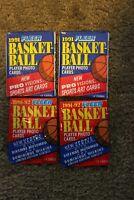 1991-92 Fleer and Fleer Update Basketball Four-pack lot - (2) packs of each