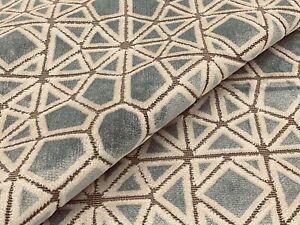 Pollack Geometric Cut Velvet Fabric- Crosscut Plush Cracked Ice 1.50 yds 5104/01