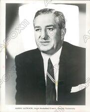 1960 Temple University Owls Head Basketball Coach Harry Litwack Press Photo