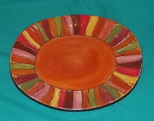 Pier 1 Wavy Stripes salad luncheon plate 8 5/8 x 10 plate