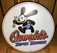 "Disney Parks OSWALD THE LUCKY RABBIT ""SUPER SERVICE"" Sign BRAND NEW!"