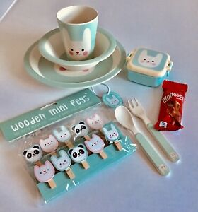 BONNIE THE BUNNY BABY / TODDLERS BAMBOO FEEDING SET - Tableware Set  (SET OF 6)