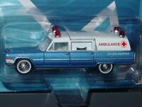 JOHNNY LIGHTNING 1966 66 CADILLAC COLLECTIBLE AMBULANCE -Blue & White, MIP